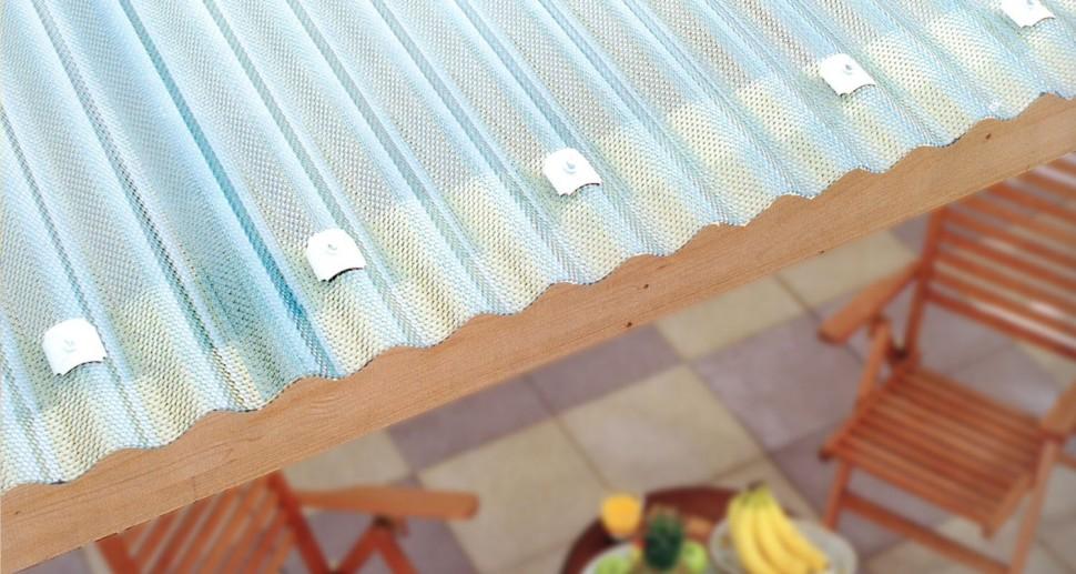 Terrassenüberdachung Wellblech durchsichtig