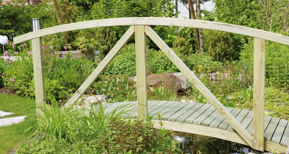 Brücke Holz rund
