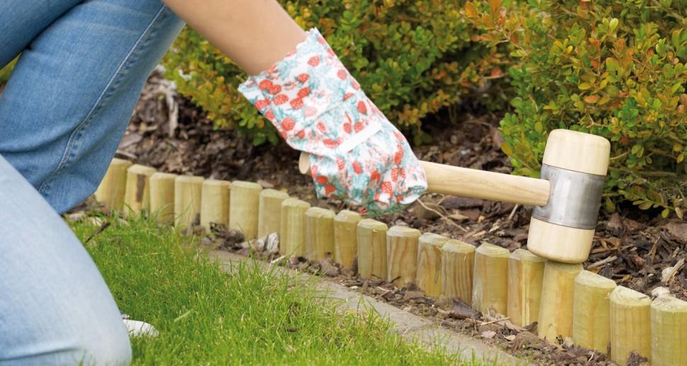 Beetumrandung Beeteinfassung Holz