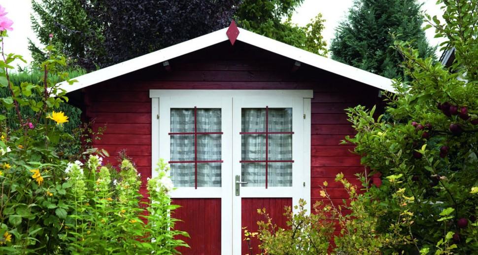 Gartenhaus Kiefer Holz schwedisch