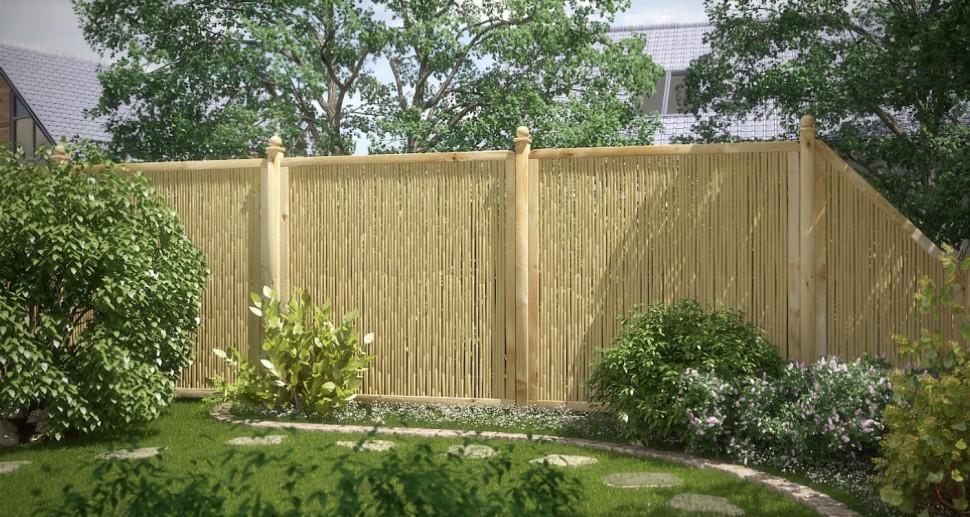 Sichtschutzzaun Garten Bambus