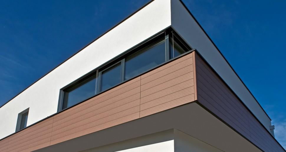WPC Holzfassade braun modern