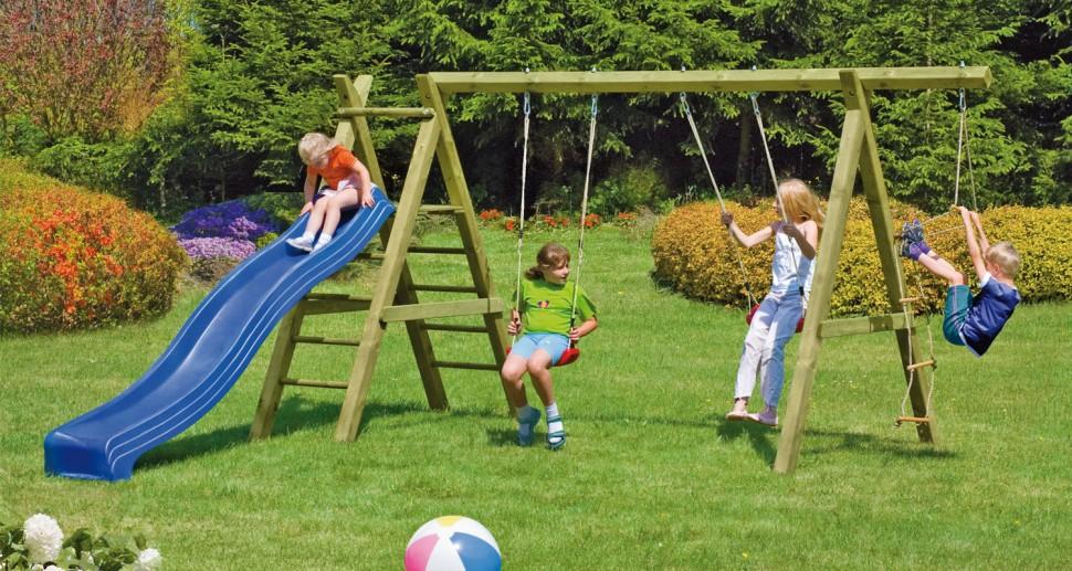 Kinderspielgerät Schaukeln Rutsche