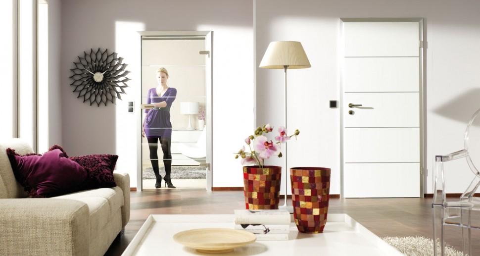 Zimmertüren Lebo Glastüre mit Streifen