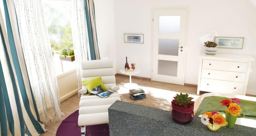 Zimmertüren Lebo weiß Glaseinsatz