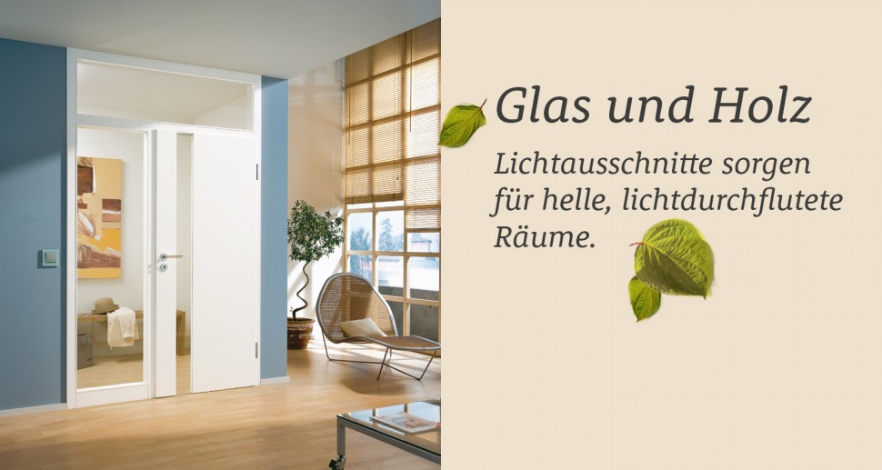 Zimmertüren Lebo weiß glaseinsatz lichtfenster