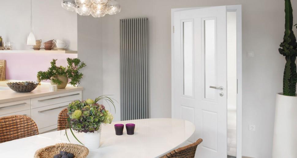 Zimmertüren Lebo weiß Glaseinsatz Altbauoptik