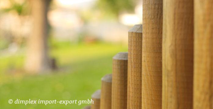 Palisaden im Garten selber bauen