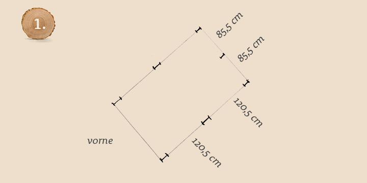 Grundriss für die Pfosten