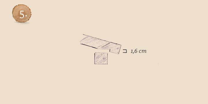 Einkerbung Dachsparren