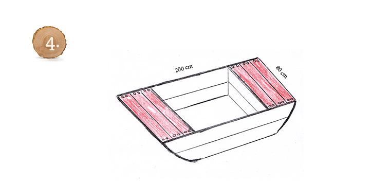 Sandkasten-Bootkörper