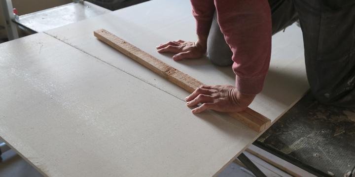 fermacellplatte sauber über eine Kante brechen
