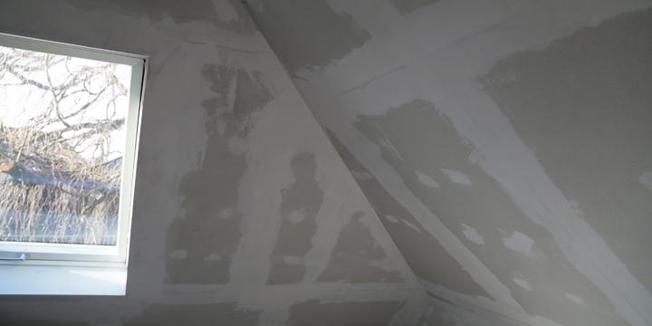 trockenbau mit Fermacell im Dachboden