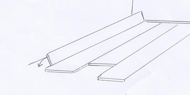 letzte reihe diele verlegen holz lumbeck. Black Bedroom Furniture Sets. Home Design Ideas