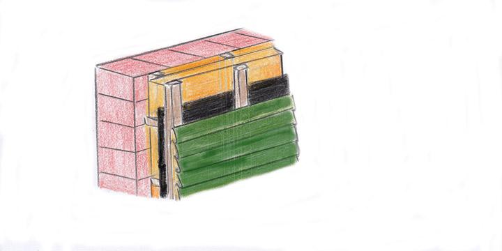 Holzprofilbretter bei Holzfassade