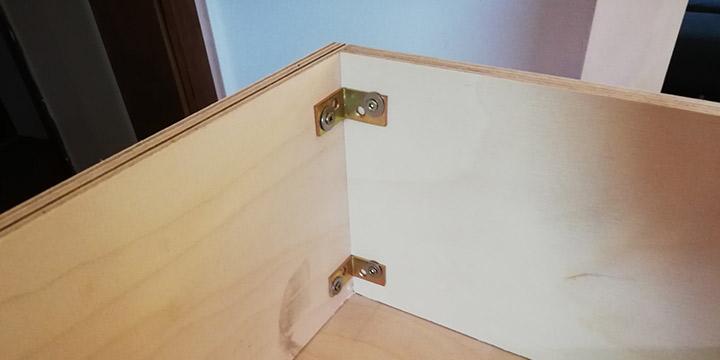 Schublade Seite Rückseite